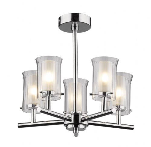 Elba 5-light Polished Chrome IP44 Ceiling Light ELB0550 (036226)
